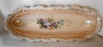 Antique oblong floral celery dish  Made in Germany IPF Germany