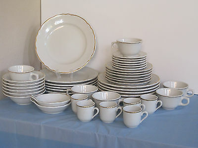 Sterling China co. Restaurant 7 pc Place Setting Service for 6 + 2 Sauce Bowls
