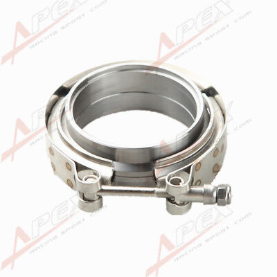 "2.5"" Self Aligning Male/Female V-Band Vband Clamp CNC Mild Steel Flange Kit"