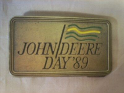 Brass  John Deere Day 1989 Belt Buckle