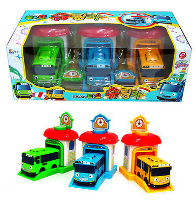 TAYO the Little Bus Shooting 3 Cars Set Garage Toy Children's toys Kids Gifts