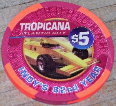 $5 Ltd Edt Memorial Day Gaming Chip From The Tropicana Casino Atlantic City 1998