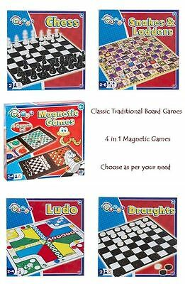 Classic Traditional Family Kids Child Board Games Travel Magnetic Fun Gift Xmas
