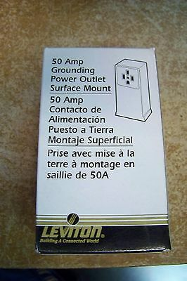 NEW Leviton 061-055050 50A 125/250Volt 3-Pole 4-Wire Surface Mounting Receptacle