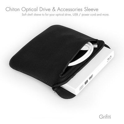 Grifiti Chiton 7 CD, DVD, Optical Drive Neoprene Sleeve Apple Superdrive Samsung