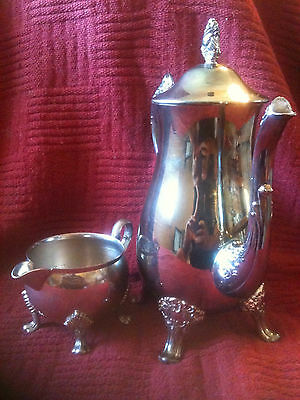 VINTAGE ANTIQUE E.P. BRASS & SHERIDAN TAUNTON TEA/COFFEE LOT OF 2-RARE-SILVER