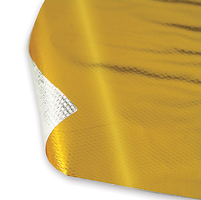 "DEI 010392 1 Sheet 12"" x 24"" Reflect-A-Gold Metalized Heat Barrier Adhesive"