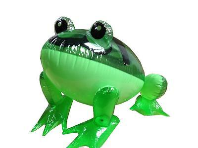 Kids Children Toy Novelty Inflatable Squeak Green Frog 40cm Party Fun