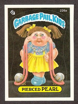 "1986 Topps Garbage Pail Kids 6th Series 6 ""PIERCED PEARL"" Sticker Card #226a"