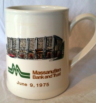 Massanutten Bank and Trust BB&T 1975 Rockingham County Stein Mug Harrisonburg VA