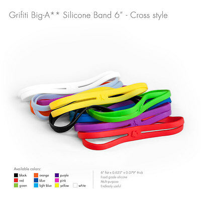 "Grifiti Big-Ass Bands X Cross Style 6"" 5 Pack Silicone Replace Rubber Elastic"