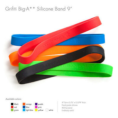 """Grifiti Band Joes 9"""" 5 Pack Tough Silicone Replaces Rubber or Elastic Bands"""
