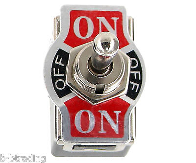 Heavy Duty 20A 125V 15A 250V DPDT 6 Term (ON)-OFF-(ON) Momentary Toggle Switch