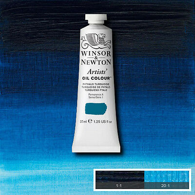 Winsor & Newton Artists Oil Color Paint Tube 37ml Phthalo Turquoise 1214-526