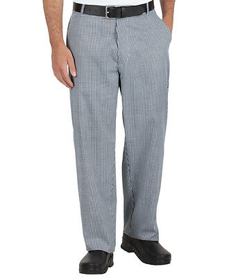 New Black White Checkered Traditional Chef Pants size 32,34,36,38,40,42,44,46,50