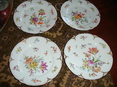 4 Vintage DRESDEN Small Plates