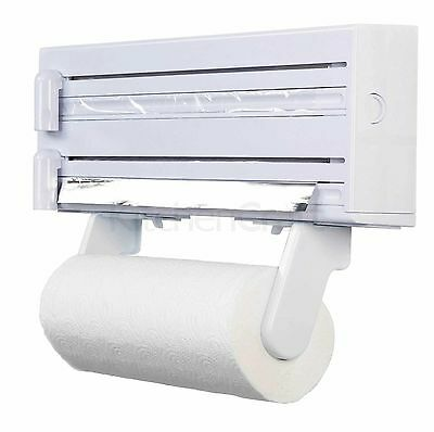 New Kitchen Craft 3 in 1 Cling Film, Foil & Kitchen Roll Holder Dispenser