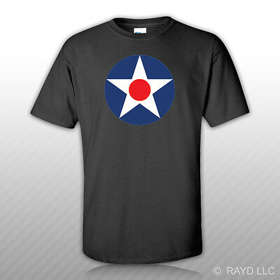 USAAC Roundel T-Shirt Tee Shirt Free Sticker United States Army Air Corp 1919-42