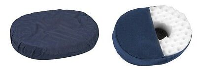 Donut Pillow Convoluted Foam Ring Cushion, 16in, 18in, - Blue