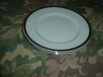 Lot of 3 W H Grindley Satin White 6 inch ironstone salad bread plates ENGLAND