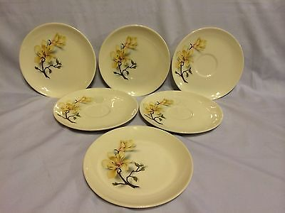 Ballerina Universal Oven Proof Union Made in USA Set Of 6 Plates