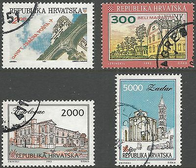 1991-1993 Croatia. Assortment of 4v., all FU.