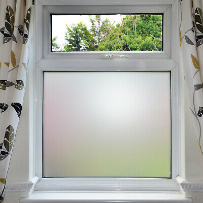 Frosted Window Film BUBBLE FREE Frost Etched Privacy Glass Self Adhesive Vinyl