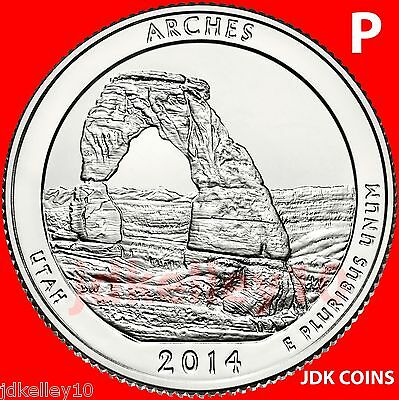 2014 P - Arches National Park - Utah - Quarter Uncirculated From Us Mint