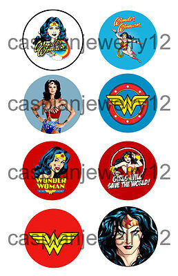 8 piece lot of Wonder Woman pins buttons badges