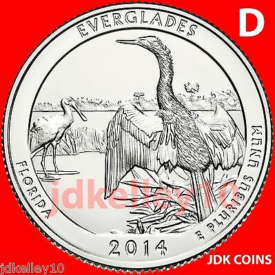 2014-D Everglades National Park Florida Quarter Uncirculated From U.s. Mint