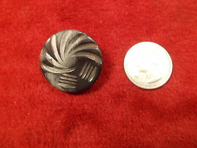 #40 of 50, LARGE OLD VTG ANTIQUE? BAKELITE BUTTON, INTERESTING SMALLER BLACK ONE
