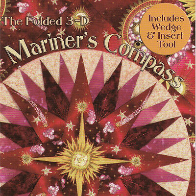 FOLDED 3-D MARINERS COMPASS Quilt Pattern Wedge Insert Tools Phillips Fiber Art
