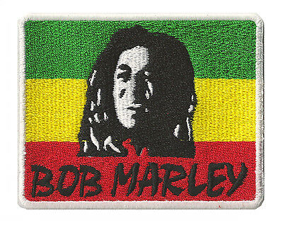 Ecusson badge patche Bob Marley reggae rasta patch brodé thermocollant
