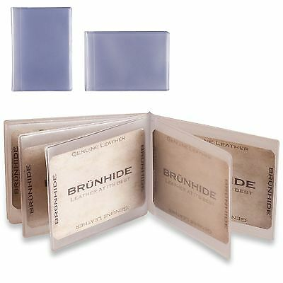 Plastic Credit Card Inserts Sleeves Portrait & Landscape Brunhide 299-300