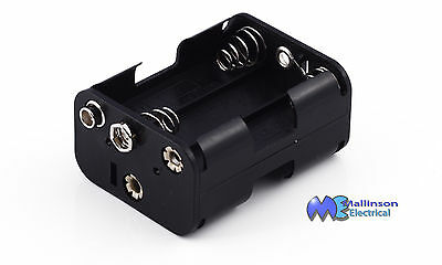 AAA AA C D battery holders and 9v Clips Open and Enclosed