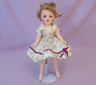 """15"""" MISS DEBUTANTE FASHION DOLL by EEGEE 1950s - 60s ORIGINAL CLOTHES"""