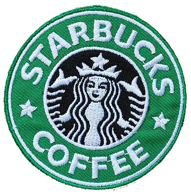 5 x Starbucks Coffee Patch Embroidery Badge Sew-On, Iron-On Jacket T-Shirt