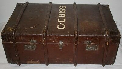 Vintage Travel Trunk/Steamer Traveling Chest Storage