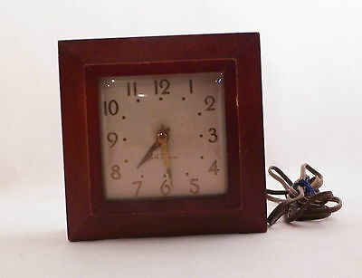 Rare Seth Thomas Shelf Mantel Desk Clock Vintage Antique Time Watch Collectible