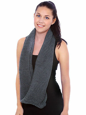 8be41be53b2 WOMEN'S CHUNKY KNIT Circle Loop Cowl Infinity Scarf Snood Best Xmas Sale
