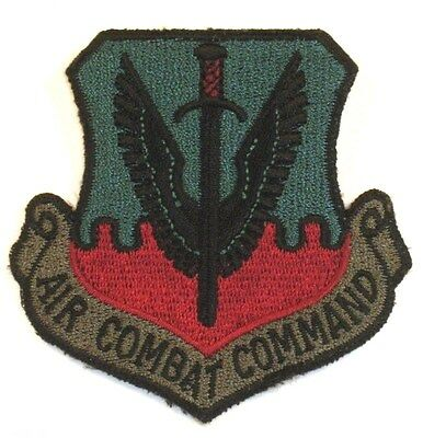 USAF Air Force Air Combat Command ACC Insignia Badge Patch Subdued
