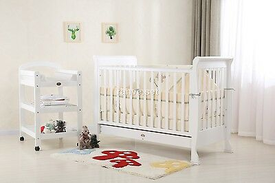 Brand New Sleigh Cot Package - 3In1 Cot,change Table & Mattress