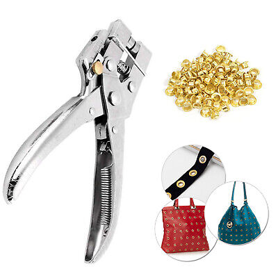 Eyelet Pliers Tool With 100 4Mm Eyelets Leather Craft Plier Leather Fabric