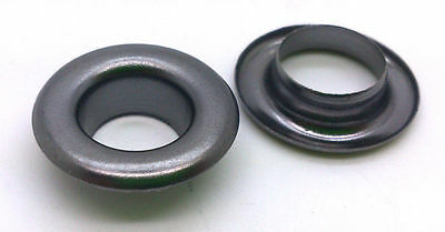50 or 100 x 14mm Gun Metal Eyelets with Washers - for Banners - UK Seller
