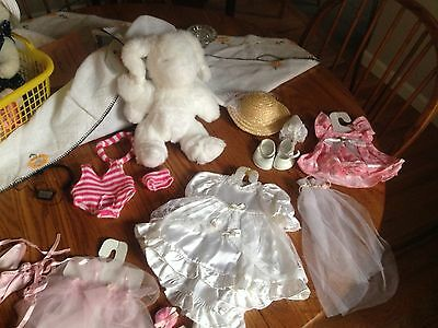 Imagination 11 inch Plush Bunny with CUTE Outfits and Accessories- FUN!
