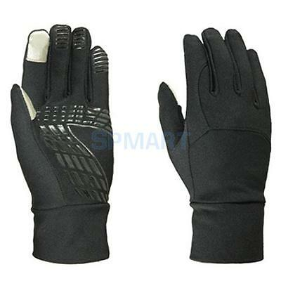 Mens Black Smartphone Touch Screen Cycling Motorcycle Winter Sports Gloves Large