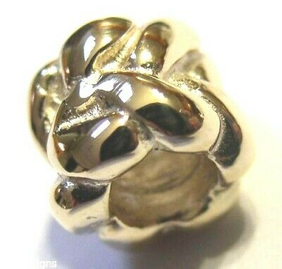 KAEDESIGNS, 9ct Yellow or Rose or White Gold or Silver 3D WEAVE BEAD CHARM