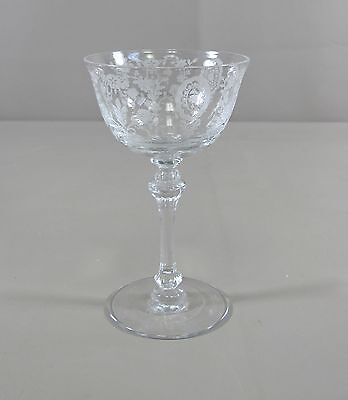 Tiffin Crystal JUNE NIGHT Cocktail-Liquor Glass Excellent Condition