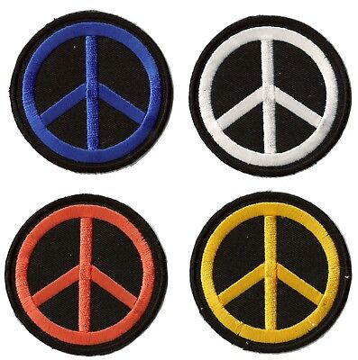 Patche écusson peace and love Hippie 60's thermocollant patch Paix