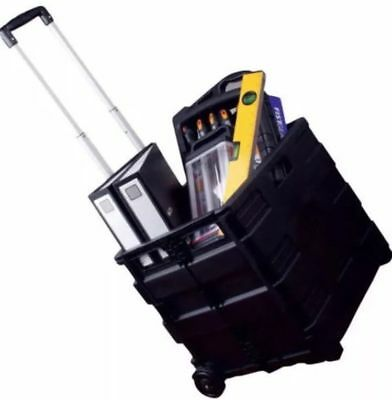 25kg Folding Luggage Shopping Cart Festival Shop Trolley Crate carry box wheels